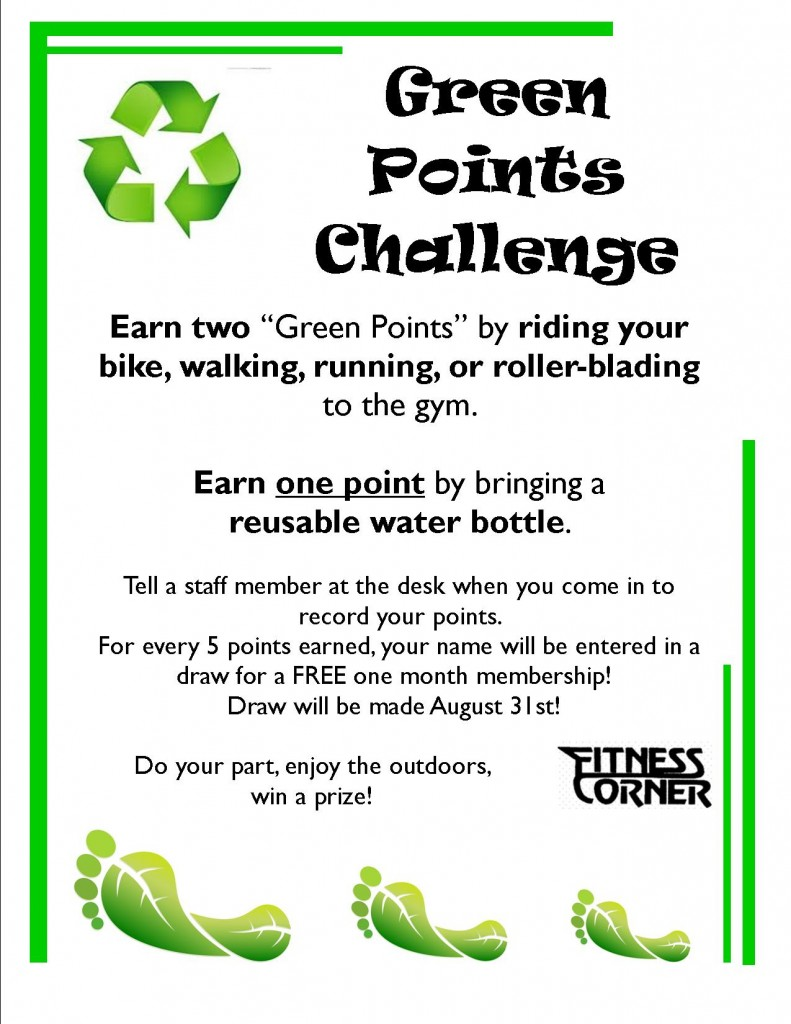 Green Points Challenge poster