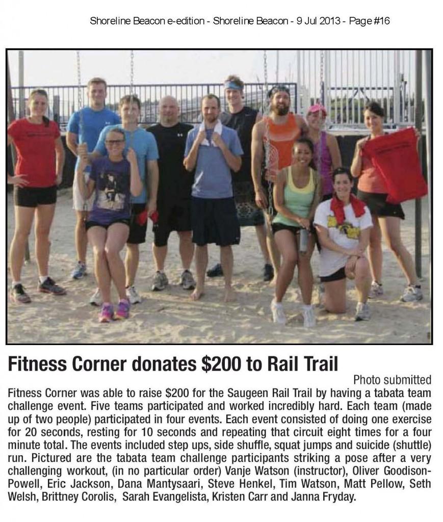 Tabata Team Challenge, Fitness Corner