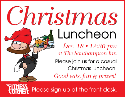 fitness corner christmas luncheon