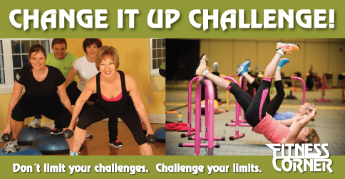 Change it up challenge - fitness corner